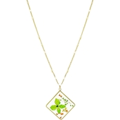 Panacea Pressed Flower Square Necklace