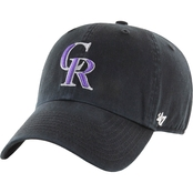 47 Brand MLB Colorado Rockies Clean Up Baseball Cap