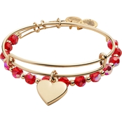 Alex and Ani 2 pc. Heart Bracelet Set