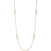 Anne Klein Goldtone  Pearl Station Necklace