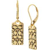 COACH Quilted C Swarovski Crystals Drop Earrings