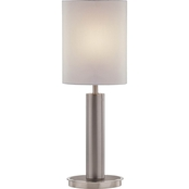 Artiva USA Catriona 27 in. Modern Slim Oval LED Touch Table Lamp