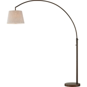 Artiva USA Allegra 79 in. LED Arch Floor Lamp with Dimmer