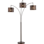 Artiva USA Lumiere II 83 in. LED Arched Floor Lamp with Dimmer