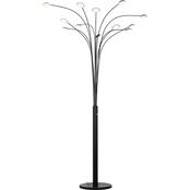 Artiva USA Quan Money Tree 84 in. Arch Floor Lamp with Touch Dimmer