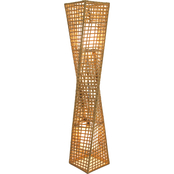 Artiva USA Phuket 51 in. 2-Light Unique Handcrafted Twist Rattan Floor Lamp