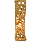 Artiva USA Phuket 27 in. Unique Handcrafted Twist Rattan Table Lamp