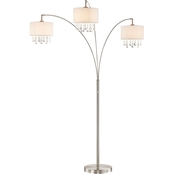 Artiva USA Lumiere IV 80 in. LED Crystal Arched Floor Lamp with Dimmer
