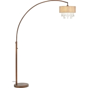 Artiva USA Elena III 81 in. LED Arched Crystal Floor Lamp with Dimmer