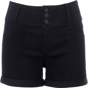 Wallflower Juniors Denim Sassy HR Shorts
