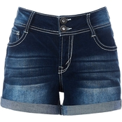 Wallflower Juniors Denim Luscious Curvy Bling Short