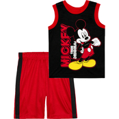 Disney Little Boys Mickey Mouse Tank and Shorts 2 pc. Set