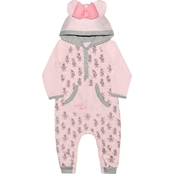 Disney Infant Girls Minnie Mouse Hooded Coverall