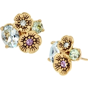 COACH Garden Party Swarovski Crystals Cluster Stud Earrings