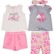 Little Lass Infant Girls Magic Short Set