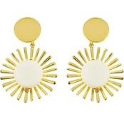 Panacea Coin Pearl Sunburst Post Earrings