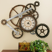 SEI Gear Clock Wall Art