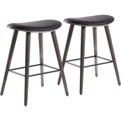 LumiSource Saddle Counter Stool 2 pk.