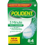 Polident 3-Minute Antibacterial Denture Cleanser 84 Ct.