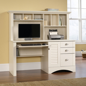 Sauder Harbor View Cottage Home Computer Desk with Hutch