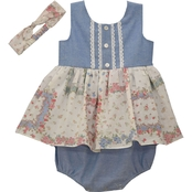 Bonnie Jean Infant Girls Patchwork Bubble Jumper