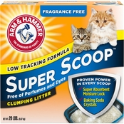Arm & Hammer Super Scoop Fragrance Free Clumping Litter 20 lb.