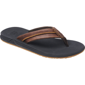 Reef Men's Leather Element TQT Flip Flops