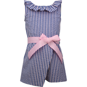 Bonnie Jean Girls Faux Wrap Romper