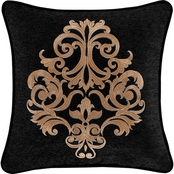 J. Queen New York Lauretta 18 in. Square Embellished Decorative Throw Pillow
