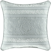 J. Queen New York Riverside Spa 20 in. Square Decorative Throw Pillow