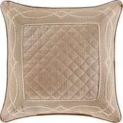 J. Queen New York Decade Gold 20 in. Square Decorative Throw Pillow