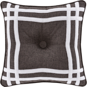 J. Queen New York Flint Charcoal 18 in. Square Decorative Throw Pillow