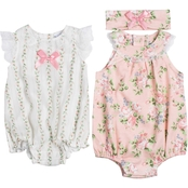 Nicole Miller Infant Girls Chiffon Sunsuits 2 pk.