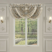 J. Queen New York Jacqueline Teal Window Waterfall Valance