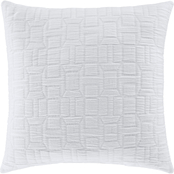 Oscar Oliver Sinclair White 20 in. Square Decorative Throw Pillow
