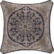 J. Queen New York Botticelli Navy 18 in. Square Decorative Throw Pillow