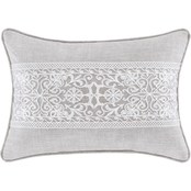 J. Queen New York Aimee Beige Boudoir Decorative Throw Pillow