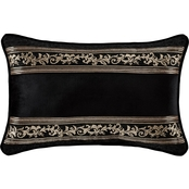 J. Queen New York Windham Black Boudoir Decorative Throw Pillow