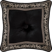 J. Queen New York Windham Black 18 in. Square Decorative Throw Pillow