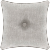 J. Queen New York Aimee Beige 18 in. Square Decorative Throw Pillow