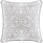 J. Queen New York Aimee Beige 20 in. Square Decorative Throw Pillow