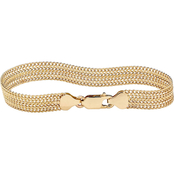 PalmBeach 18K Yellow Gold over Sterling Silver Mesh Bracelet