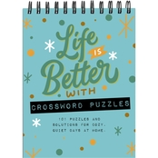 TF Publishing Life is Better with Crossword Puzzles Book Spiral Puzzle Pad