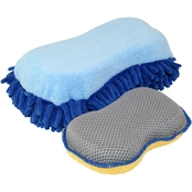 Carrand Microfiber Sponge with Added Scrubbing Mesh