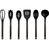 Robert Irvine Jumbo Utensil 6 pc. Set with Wood Decal Handles