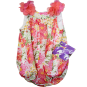 Blueberi Boulevard Infant Girls Big Floral Print Bubble Dress