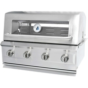 Drop in 4 Burner Stainless Steel Dual Fuel Gas Grill