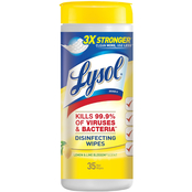 Lysol Disinfecting Wipes, Lemon Lime Blossom Scent