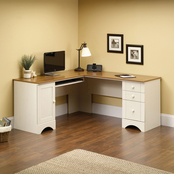 Sauder Harbor View Corner Desk with Return