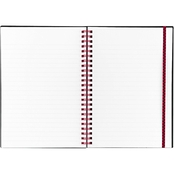 Black n' Red Twin Wire Poly Cover Legal Rule 5 5/8 x 8 1/4 in. Notebook